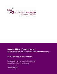 Green Skills, Green Jobs: - The Skills & Learning Intelligence Module