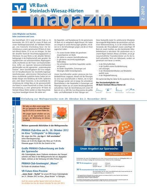 Gewinner aus magazin 1·2012  - VR Bank Steinlach-Wiesaz-Härten eG