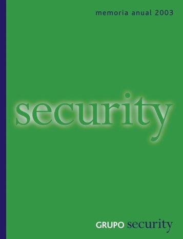 Memoria 2003 - Banco Security