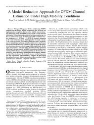 A Model Reduction Approach for OFDM Channel Estimation Under ...