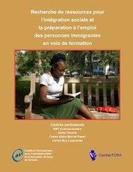 Recherche de ressources pour l'intégration sociale et la préparation ...