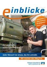 mitgliederzeitschrift - VR Bank Schwäbisch Hall-Crailsheim eG