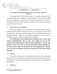 The Catalyst Review Individual User Electronic License Agreement