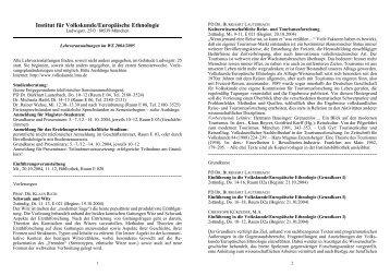 Kommentiertes Vorlesungsverzeichnis Wintersemester 2005/2004