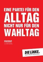 Arbeitsheft zum 9. Kreisparteitag der Partei DIE LINKE. Westsachsen