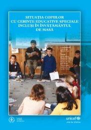 Situa]ia copiilor cu cerin]e educative speciale inclu[i în înv ... - ISE