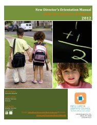 2012 New Directors Manual for CCR&Rs - Early Care & Learning ...