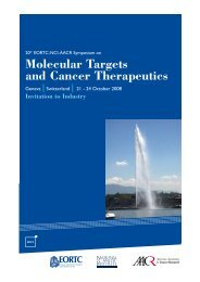 Molecular Targets and Cancer Therapeutics - eortc