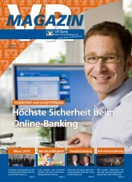 Ausgabe März 2011 - VR Bank Main-Kinzig-Büdingen eG