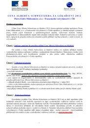 Podmínky a další informace