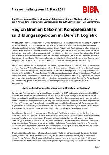 Region Bremen bekommt Kompetenzatlas zu Bildungsangeboten ...