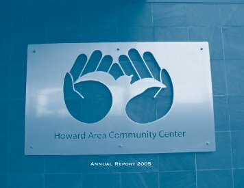 Annual Report 2002 - Howard Area Community Center