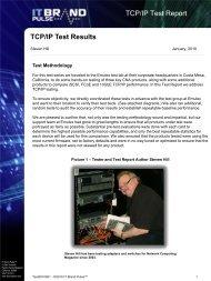 IT Brand Pulse TCP/IP Test Report - Emulex