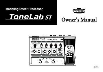 vox tonelab manual Vox tonelab st service manual table of contents assembly  sketch 2-3 block diagram 4 schematic diagram: 5.