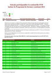 Selectie participanti seminarii INM 2012.pdf - Institutul Naţional al ...