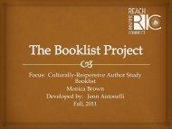 Author Study Booklist by Jenn Antonelli for Grades 3-6.pdf - RITELL