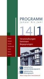 Programm zum Download - Katholisches Bildungswerk - Erzbistum ...