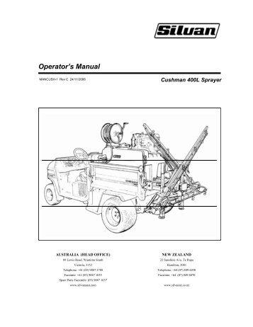 Operator's Manual - Silvan Australia