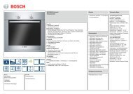 Technische Daten Bosch HBG 30B550 - VS Elektro