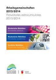 """Actividades extracurriculares 2013/14 - Colegio Alemán """"Juan ..."""
