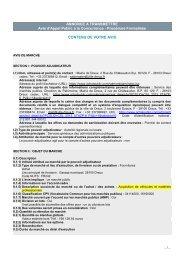 ANNONCE A TRANSMETTRE Avis d'Appel Public à la ... - Dreux.com