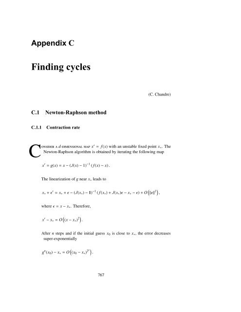 Appendix C Finding cycles