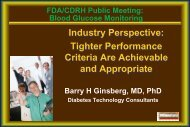 Industry Perspective - Diabetes Technology Society