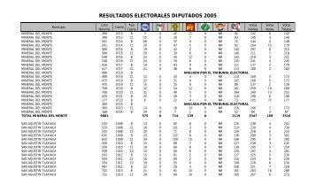 resultados electorales diputados 2005