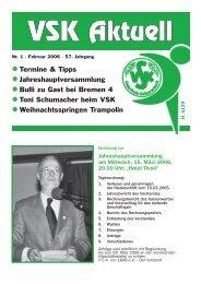 • Termine & Tipps • Jahreshauptversammlung • Bulli ... - VSK Osterholz