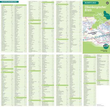 Busnetz Oberbergischer Kreis 2012 - VRS