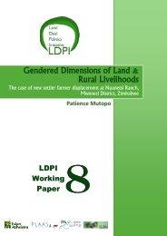 Gendered Dimensions of Land & Rural Livelihoods - PLAAS