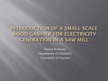 Patrick Ketwaru Department of Chemistry University of ... - Corrente