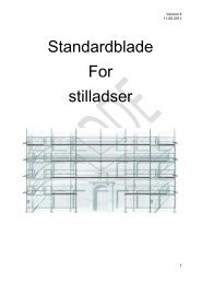 Standardblade For stilladser
