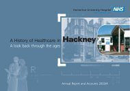 Annual Report and Accounts 2003/2004 - Homerton University ...