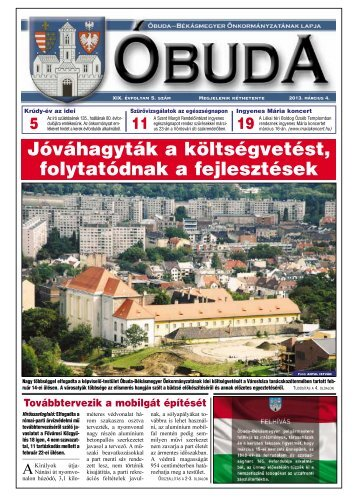 buda Újság 2013/05. szám - Óbuda-Békásmegyer