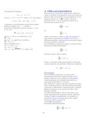 1. kertaluvun differentiaaliyhtälöt