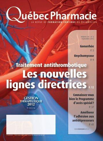 gestion thérapeutique 2012