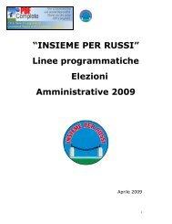 """""""INSIEME PER RUSSI"""" Linee programmatiche Elezioni ... - web matic"""