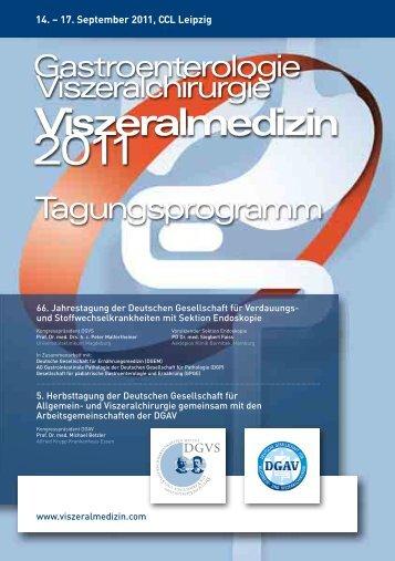 14. – 17. September 2011 - Viszeralmedizin 2012
