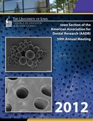 Iowa Section of AADR - The University of Iowa College of Dentistry