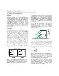 Macro-flow and Velocity Dispersion - SEG Digital Library