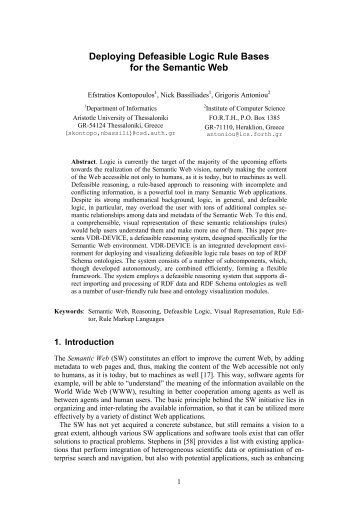 Deploying Defeasible Logic Rule Bases for the ... - ResearchGate