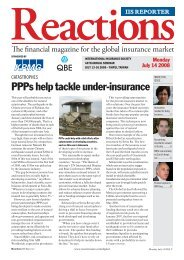 Reactions IIS Reporter - International Insurance Society