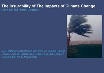 The Insurability of The Impacts of Climate Change