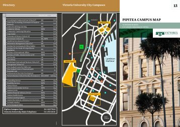PIPITEa CaMPUs MaP - Victoria University of Wellington