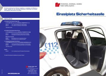 Einzelplatz Sicherheitszelle Trennwand - Rauwers GmbH