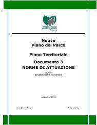 Nuovo Piano del Parco Piano Territoriale Documento 3 NORME DI ...