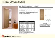 Internal Softwood Doors - Howdens Joinery