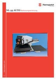 NL-33 AUTO Bedienungsanleitung - Thermopatch