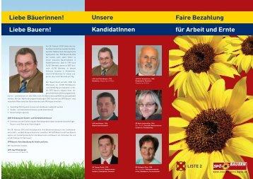 Faire Bezahlung Liebe Bäuerinnen! für Arbeit und ... - SPÖ Hainfeld